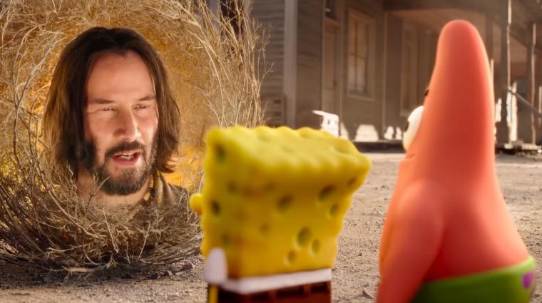 Nemcsak Keanu Reeves miatt fura az új Spongyabob film előzetese bevezetőkép