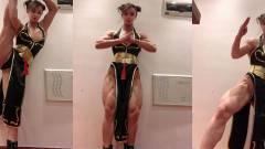 Egészen félelmetes a kínai testépítő nő által életre keltett Chun-Li cosplay kép