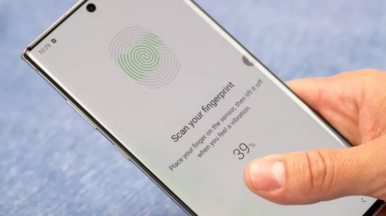 Sokkal gyorsabb ujjlenyomat-olvasót épít a Galaxy Note 20-ba a Samsung kép