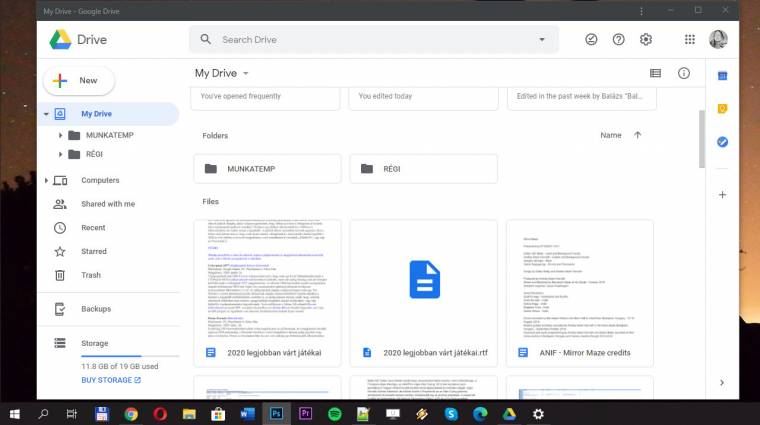 A Google Drive progresszív web appként él tovább kép