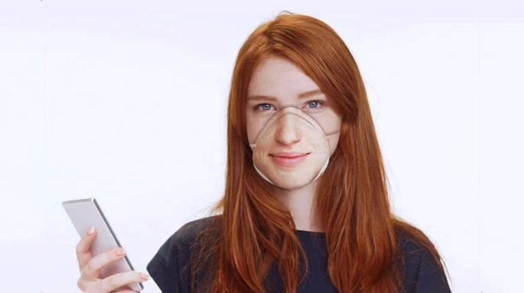 Arcfelismerő-kompatibilis szájmaszkot készít egy cég kép