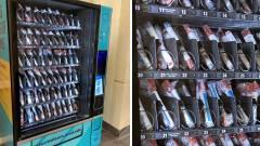 Itt egy automata, ami koronavírust kimutató teszteket ad kép