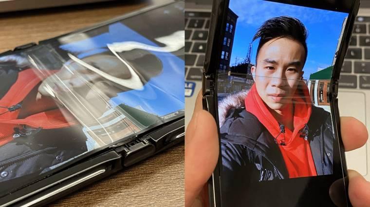 A Motorola Razr hajtogatós kijelzője sem tökéletes kép