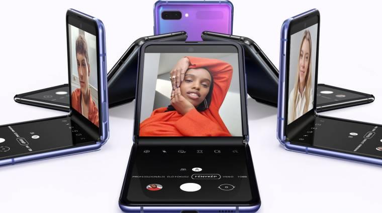 Samsung Galaxy Z Flip unboxing - ez is hajlik, csak a másik irányba kép