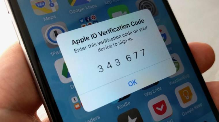 Szabványosítaná a kétlépcsős hitelesítési üzeneteket az Apple kép