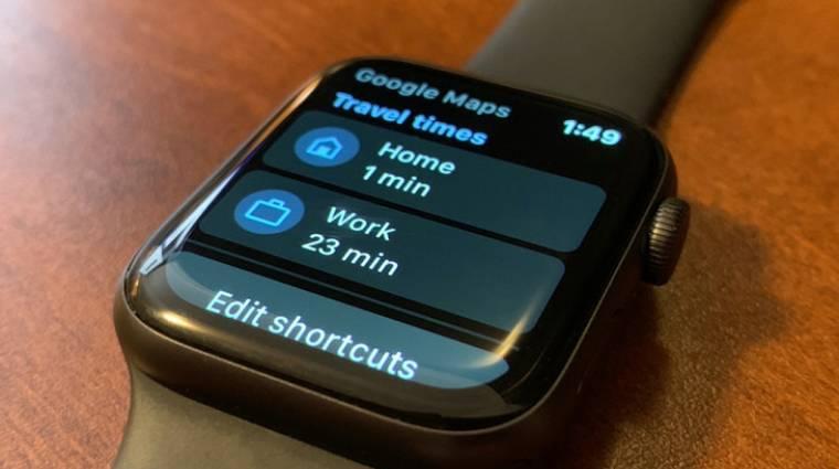 Visszatért az Apple Watch-ra a Google Térkép kép