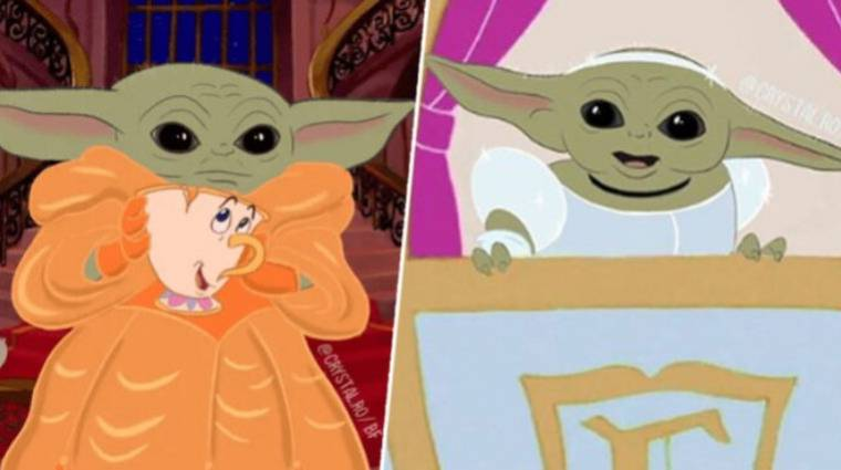 Napi büntetés: ilyen lenne Baby Yoda a Disney hercegnők bőrébe bújva bevezetőkép