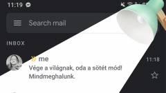 Sokaknál eltűnt a Gmail app sötét módja kép