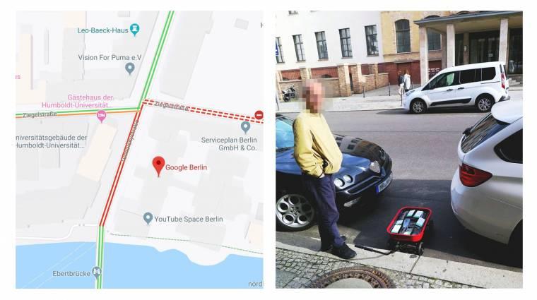 Vajon kinek jutna eszébe így átverni a Google Maps dugójelzőjét? kép