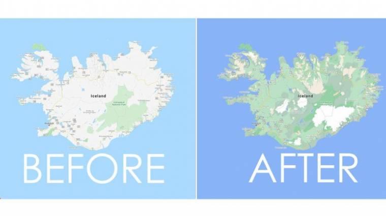 Sokkal pontosabb és színesebb lett a Google Térkép kép