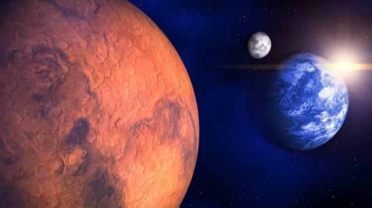 Így néz ki a Föld a Mars felszínéről készített fotón kép