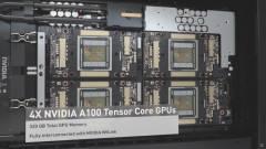 Döbbenetesen erős az NVIDIA új, 4 GPU-s DGX Station A100 szervere kép