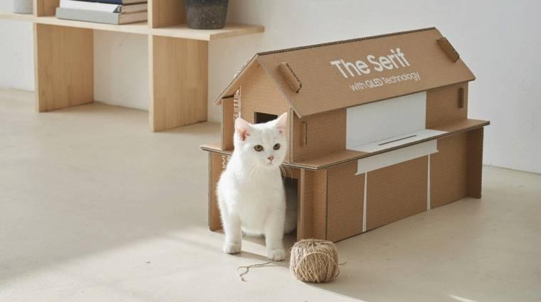 Macskaházat hajtogathatsz a Samsung tévék dobozaiból kép