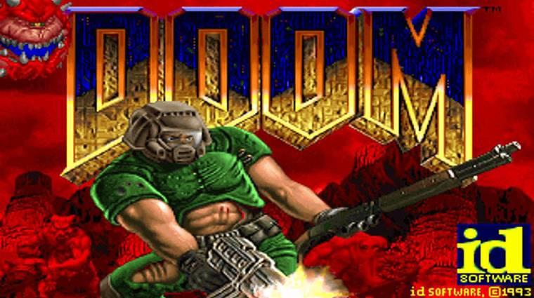Egyetlen chipre ültetve is fut a Doom kép