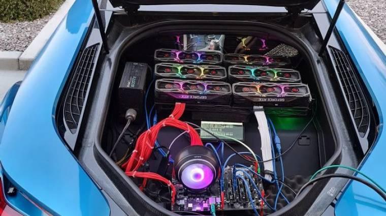 Hogy kerül egy rakás RTX 3080 egy BMW csomagtartójába? kép