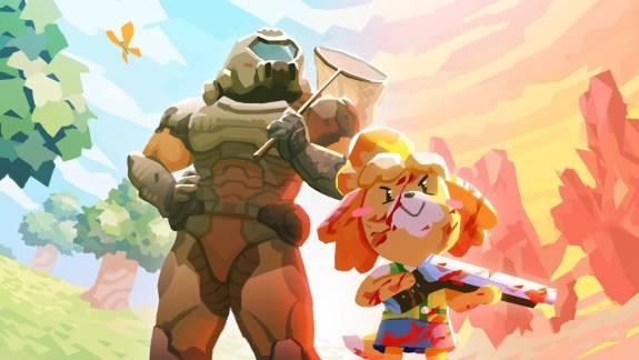 Egy cosplayer ötvözte a Doom Eternal és az Animal Crossing két főbb szereplőjének legjobb elemeit kép