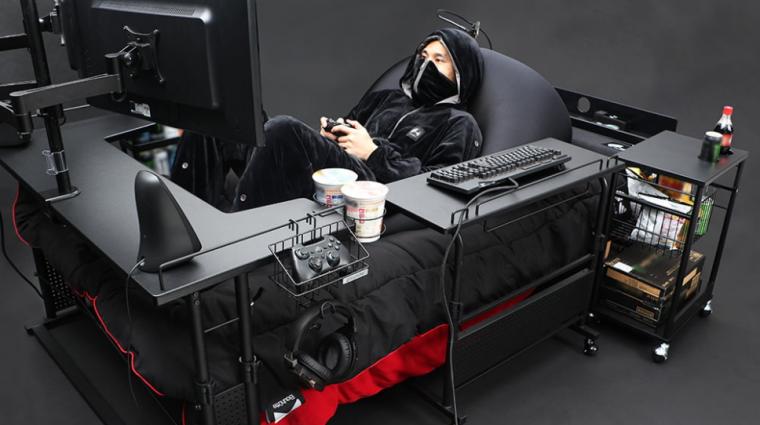 Napi büntetés: a gamer szék már a múlté, itt a gamer ágy! bevezetőkép