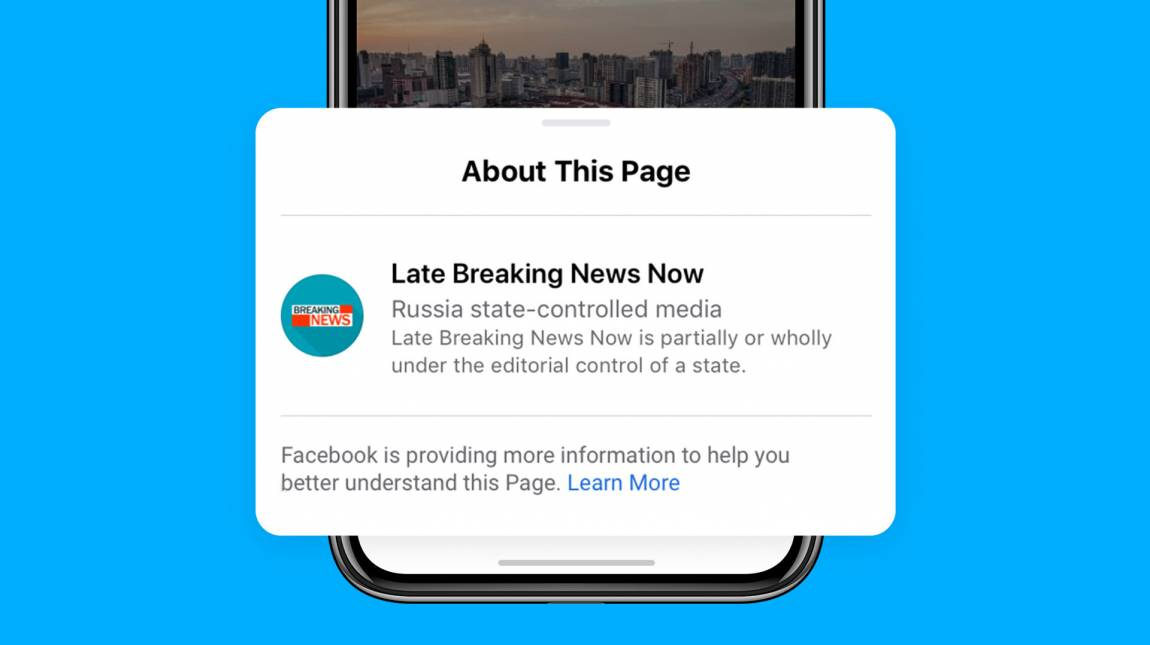 A Facebook a jövőben már szűri az állami irányítású médiaszereplőket kép