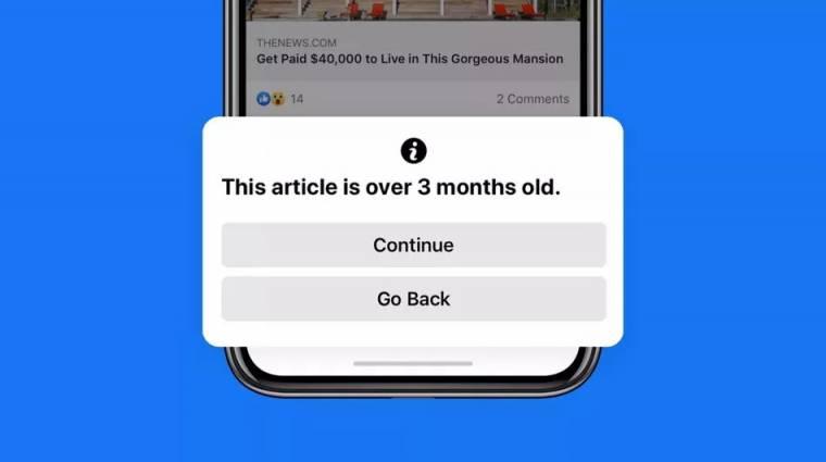 Jelez a Facebook, ha túl régi hírt osztanál meg kép