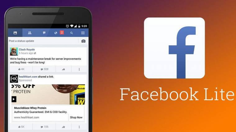 Kaszát kap a Facebook Lite kép