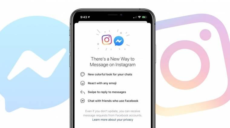 Elindult a Facebook Messenger és az Instagram üzenetküldőjének egybeolvasztása kép