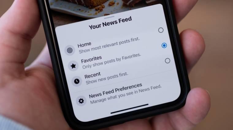 Időrendbe igazított hírfolyamot tesztel a Facebook kép
