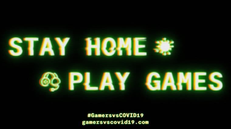 Profi játékosok és streamerek csapata szólítja fel az embereket az otthon maradásra bevezetőkép
