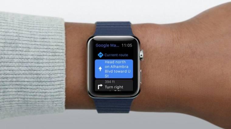 Visszatér a Google Térkép az Apple Watch okosórákra kép