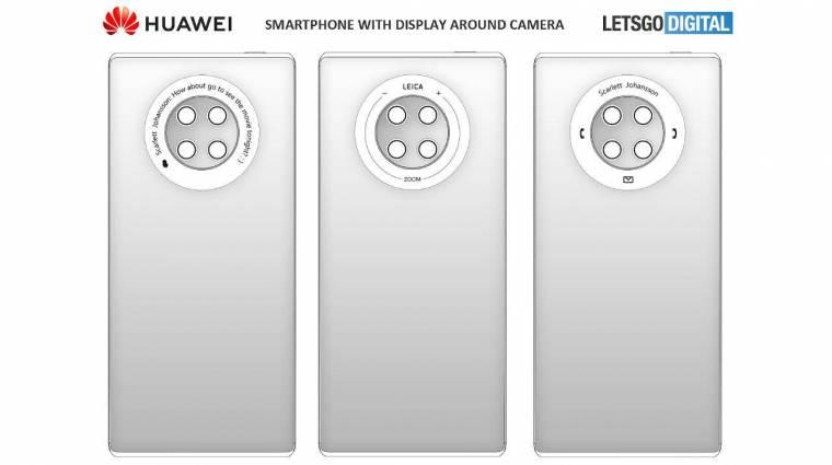 A Huawei Mate 40 kamerái körül érintőkijelző is lesz kép