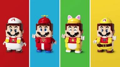 A LEGO Mario figurának különböző ruhák adnak új erőket kép