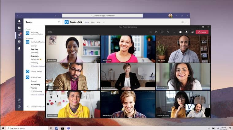 Már 300-an beszélgethetnek egyszerre a Microsoft Teams segítségével kép