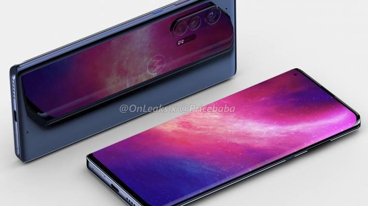 Látványos dizájnt és jackcsatlakozót hozhat a Motorola Edge+ kép