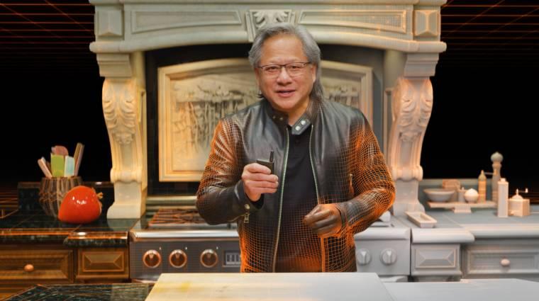 Senki nem vette észre, hogy az Nvidia bemutatóján még a műsorvezetőt is 3D renderre cserélték egy ponton kép