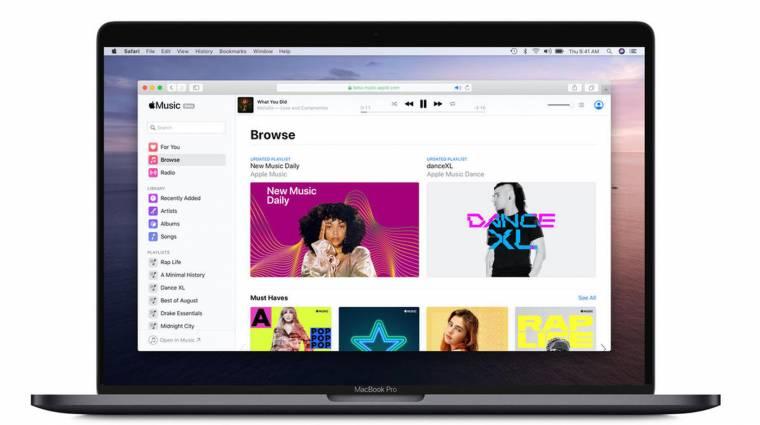 Már böngészőben is fut az Apple Music kép