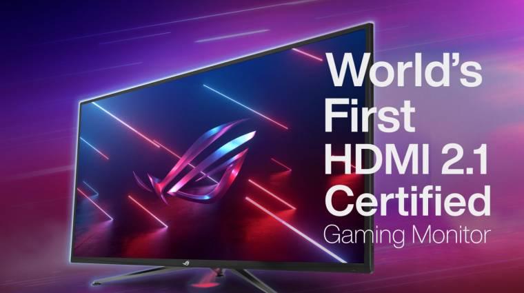A világ első HDMI 2.1-es, 4K-s gamermonitorait mutatta be az ASUS kép