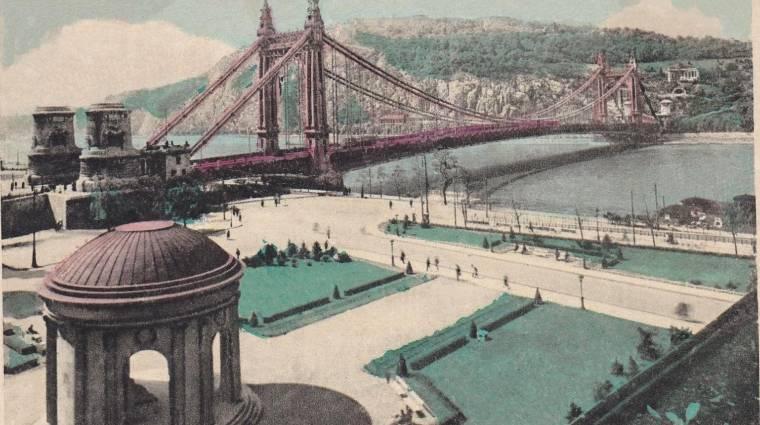 Egy kis magyar csapat játékban építette föl a háborúban lerombolt Erzsébet hidat bevezetőkép