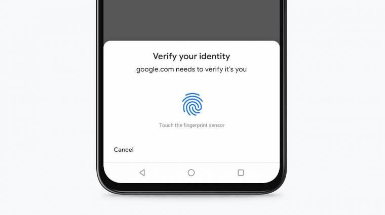 Ujjlenyomattal fizethetünk az androidos Chrome-ban kép