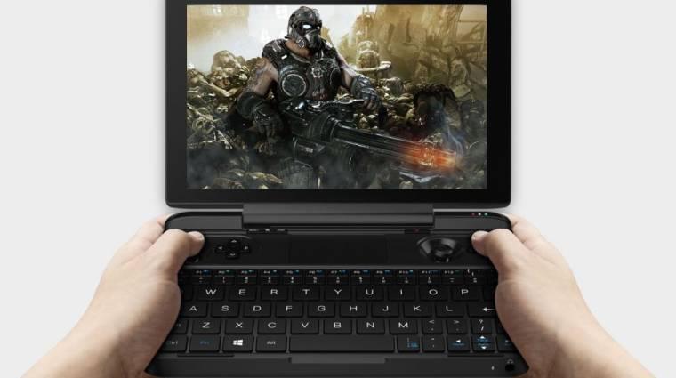 Itt a PC alapú kézikonzol, ami beépített kontrollerrel rendelkezik kép