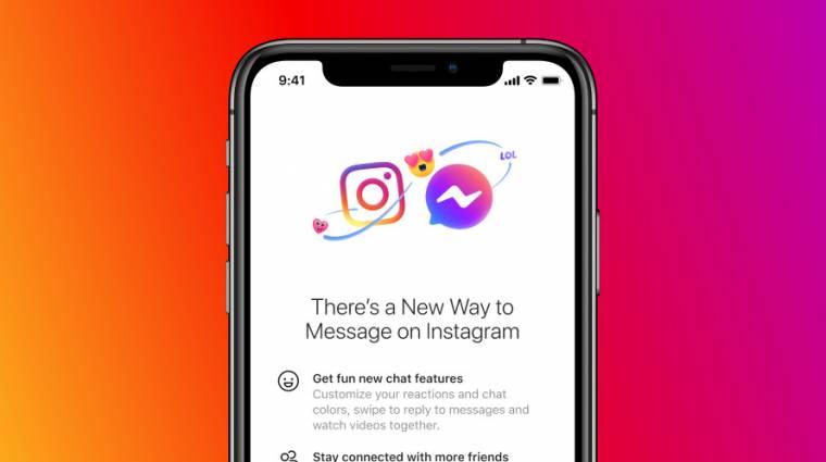 Összeolvadt a Facebook Messenger és az Instagram üzenetküldője kép