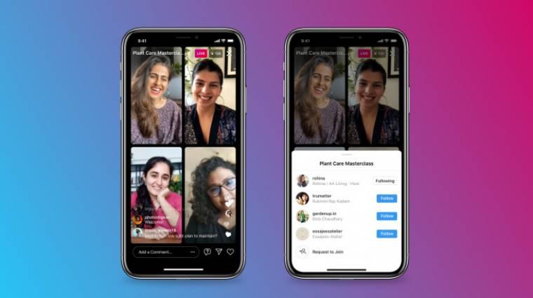 Az Instagram bemutatta a Live legújabb funkcióját, amivel egyszerre többen is közvetíthetnek kép