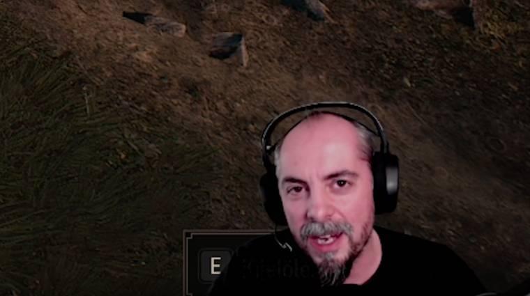 Mogács Dániel éppen The Witcher 3-at streamel bevezetőkép