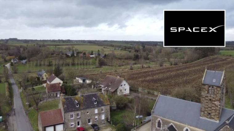 A French village will take up arms against the Starlink satellite army
