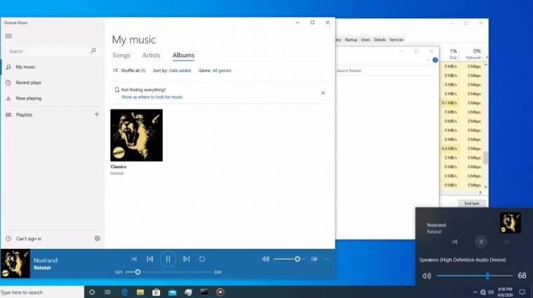 Végre megújult médiavezérlőket kaphat a Windows 10 kép