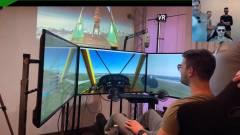 Profi szimulátorülésben tanult repülni a Pamkutya duó a Game Pass Fesztiválon kép