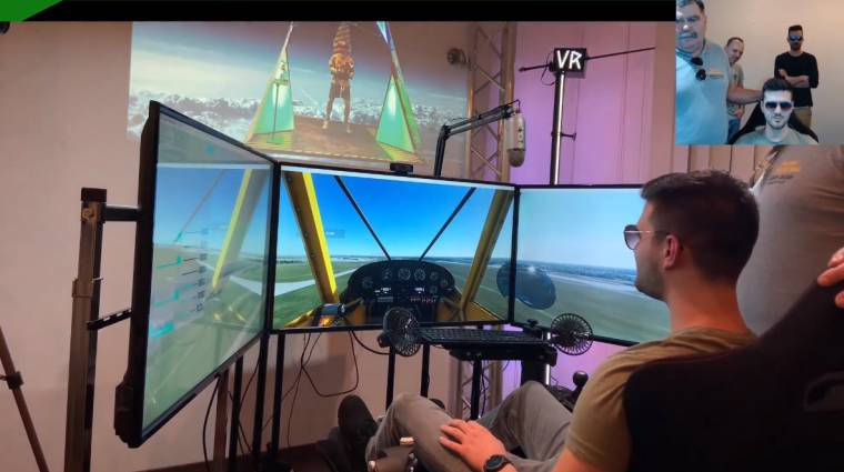Profi szimulátorülésben tanult repülni a Pamkutya duó a Game Pass Fesztiválon bevezetőkép