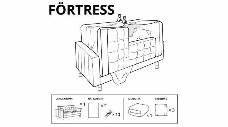 Az IKEA most azt is megmutatja, hogyan építs tökéletes bunkert a gyerekszobában kép