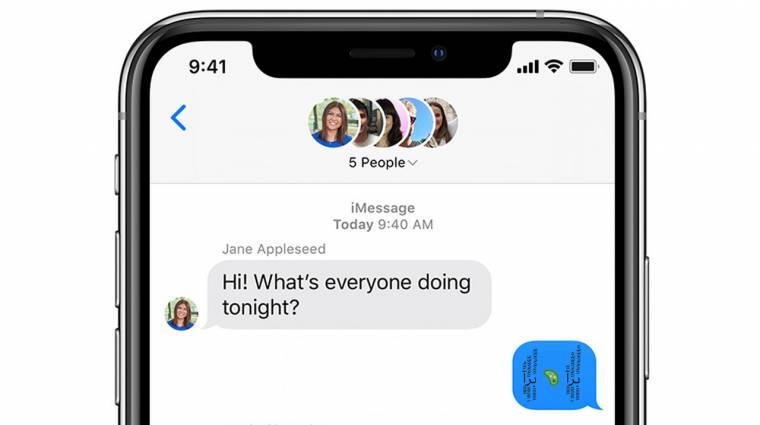 Újabb üzenet képes megbénítani az iPhone-okat kép