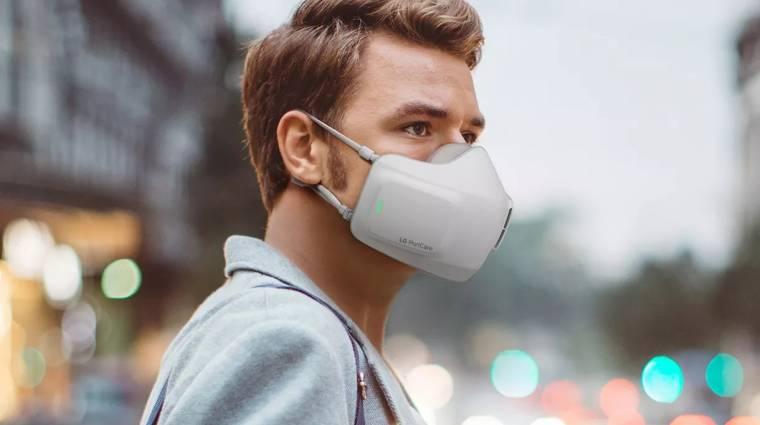 Az LG légtisztítós arcmaszkot készített kép