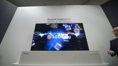 Feltekerhető kijelzős laptop tervét védette le az LG kép