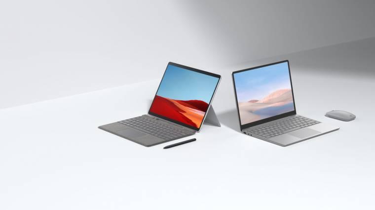 Itt az olcsó és a prémium Microsoft Surface Laptop Go és az új Surface Pro X kép